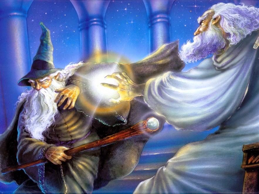 Angelo Montanini Saruman e Gandalf